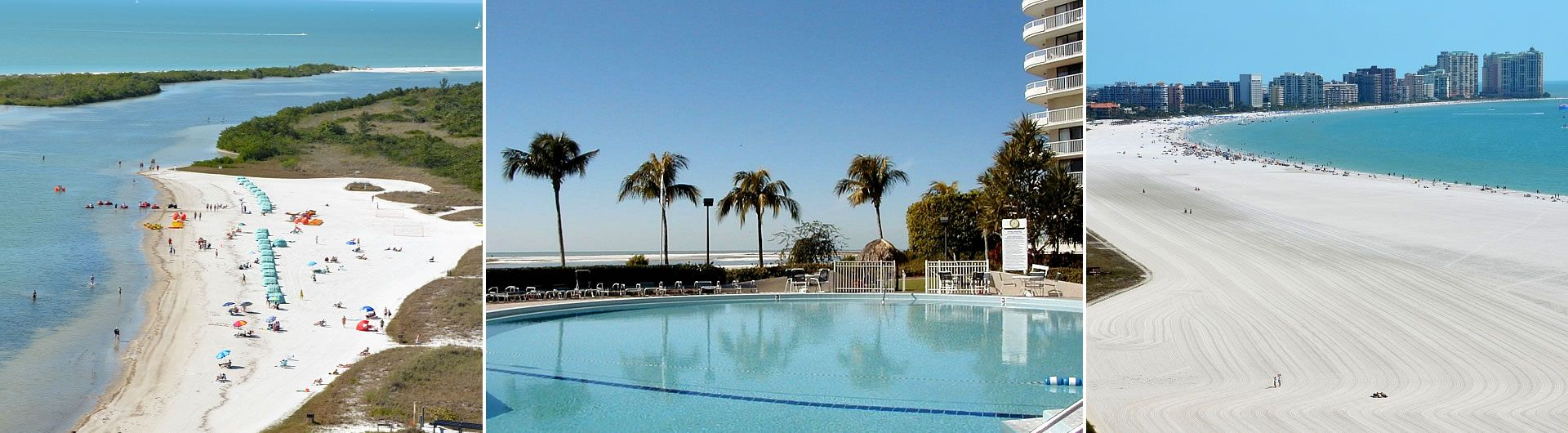 Marco Island beach and Towers pool