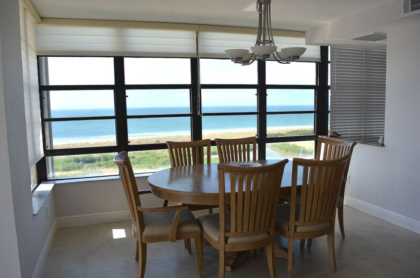 Dining area with beautiful ocean view
